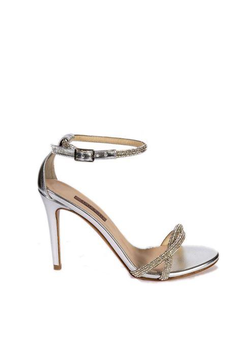 Sandalo strass t90 argento ALBANO | Sandali | 8069MET-ARGENTO