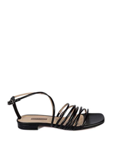 Sandalo flat fasce nero ALBANO | Sandali flats | 8100SOFT-NERO
