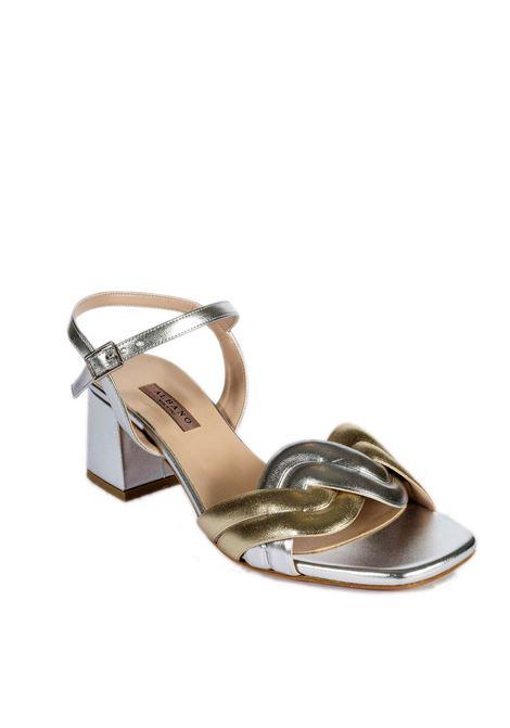 Sandalo treccia multi ALBANO | Sandali | 8109MET-ARG/PLAT