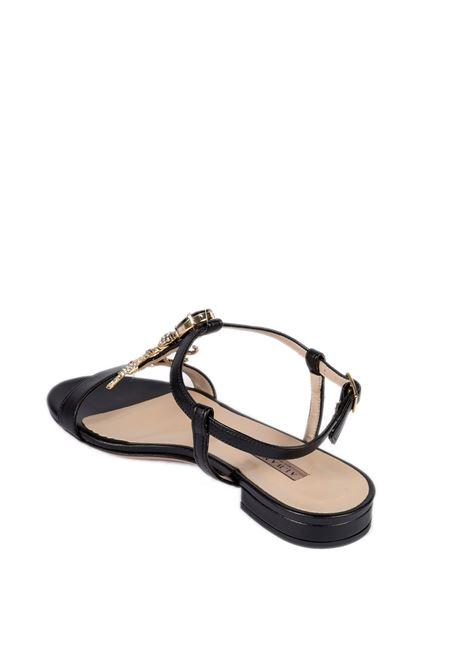 Sandalo gioiello nero ALBANO | Sandali flats | 8119SOFT-NERO