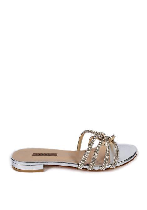 Sandalo flat nodo strass argento ALBANO | Sandali flats | 8120MET-ARGENTO