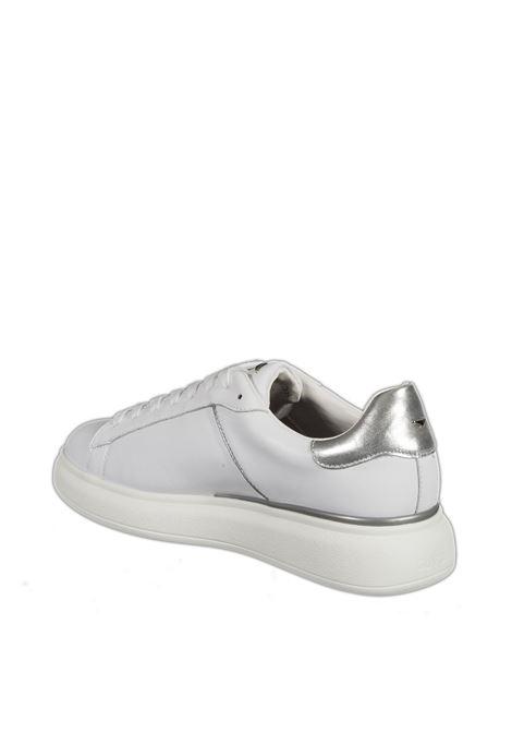 Sneaker glitter bianco/silver ALBERTO GUARDIANI | Sneakers | 101125LEATHER-WHITE/SILVER