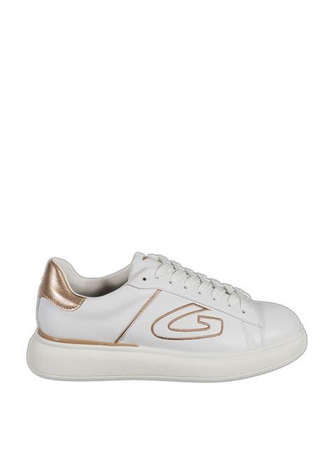 Sneaker glitter bianco/rosa ALBERTO GUARDIANI | Sneakers | 101126LEATHER-WHITE/PINK