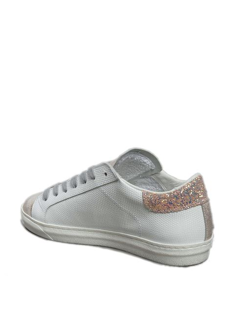 Sneaker pelle/laminato bianco/cipria AMA BRAND DELUXE | Sneakers | 1776PELLE/LAM-BIA/CIPRI