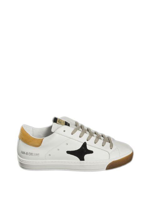 Sneaker bianco/arancio AMA BRAND DELUXE | Sneakers | 1781PELLE/CAM-BIA/ARANC