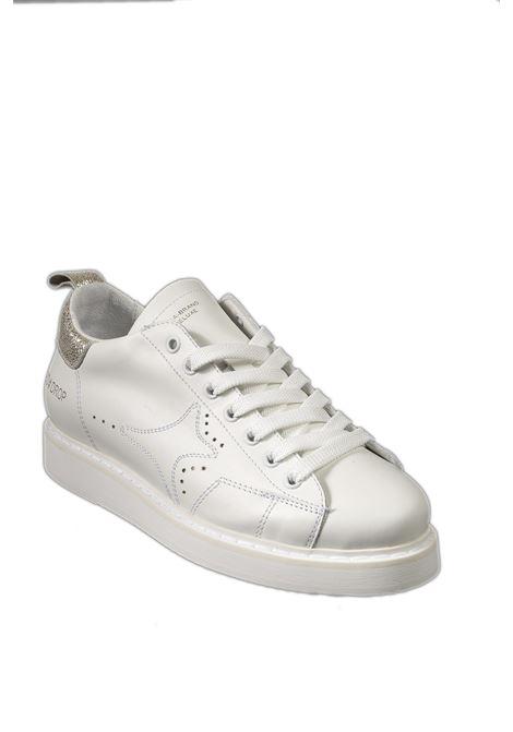 Sneaker pelle bianco/oro AMA BRAND DELUXE | Sneakers | 1810PELLE-BIANCO/ORO
