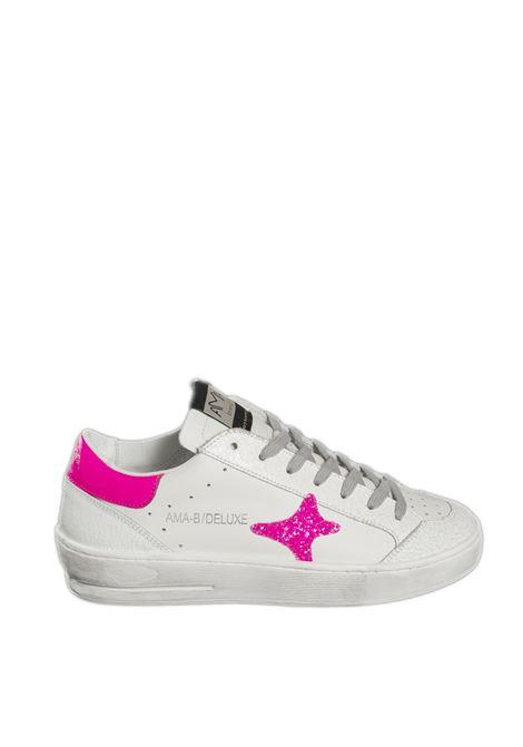 Sneaker bianco/fuxia AMA BRAND DELUXE | Sneakers | 1829PELLE/LAM-BIA/FUXIA