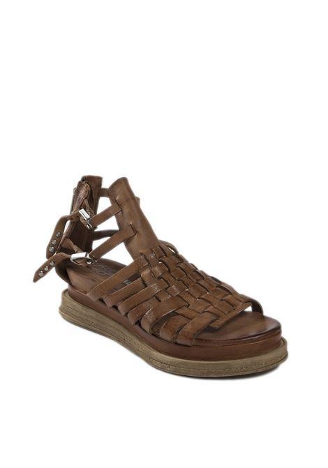 Sandalo lagos 2.0 marrone AS98 | Sandali flats | A15016PELLE-MARRONE