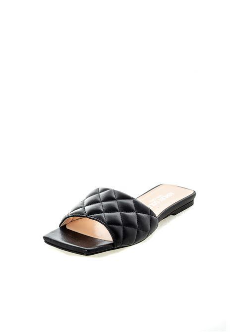 Sandalo flat matelassé nero ASHLEY COLE   Sandali flats   RPAS334NAPPA-NERO
