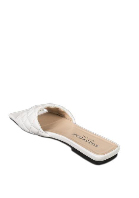 Sandalo flat matelassé bianco ASHLEY COLE | Sandali flats | RPAS334NAPPA-BIANCO