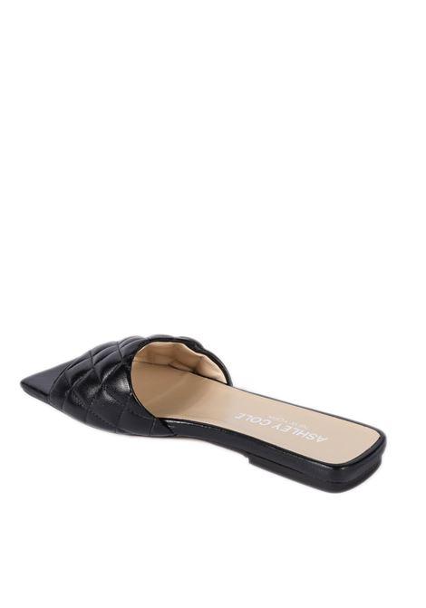 Sandalo flat matelassé nero ASHLEY COLE | Sandali flats | PAS334NAPPA-NERO