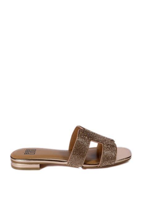 Sandalo flat strass oro rosa BIBI LOU | Sandali flats | 838LAMINATO-COBRE