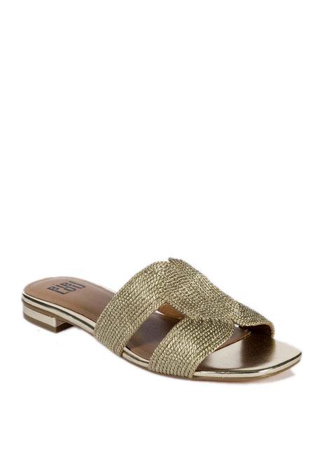 Sandalo flat rafia oro BIBI LOU | Sandali flats | 839LAMINATO-ORO