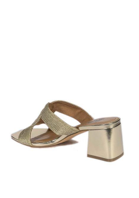 Sandalo rafia oro BIBI LOU | Sandali | 841LAMINATO-ORO