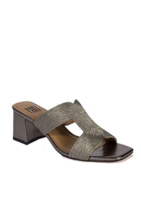 Sandalo rafia piombo BIBI LOU | Sandali | 841LAMINATO-PLOMO