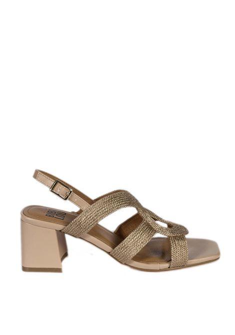 Sandalo rafia intrecciata nude BIBI LOU | Sandali | 842PELLE-NUDE