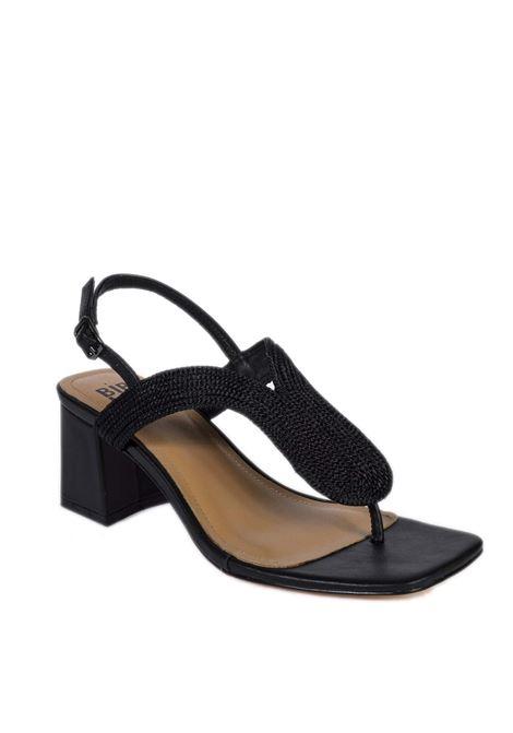 Sandalo rafia nero BIBI LOU | Sandali | 843PELLE-NEGRO
