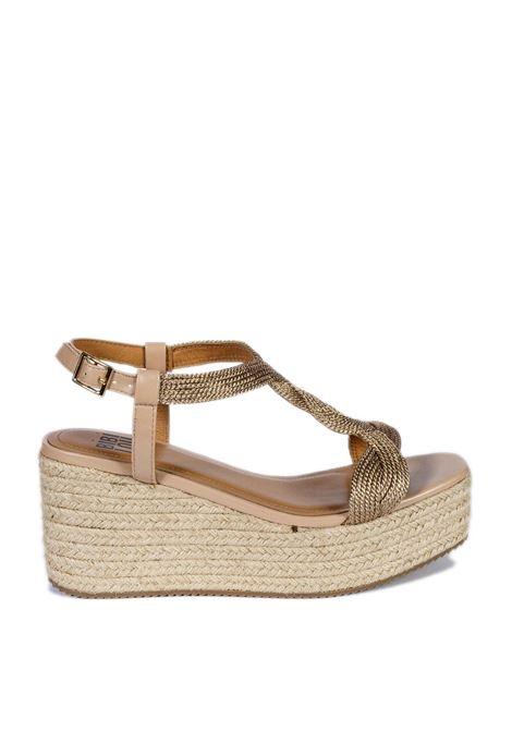 Sandalo zeppa nude BIBI LOU | Sandali | 845PELLE-NUDE