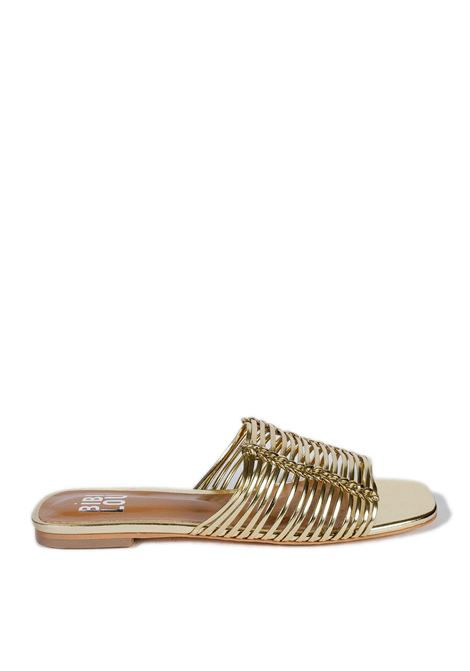 Sandalo flat metal oro BIBI LOU | Sandali flats | 849LAMINATO-ORO
