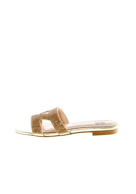 Bibi lou sandalo triangolo strass oro BIBI LOU | Sandali flats | R869PELLE/STRASS-ORO