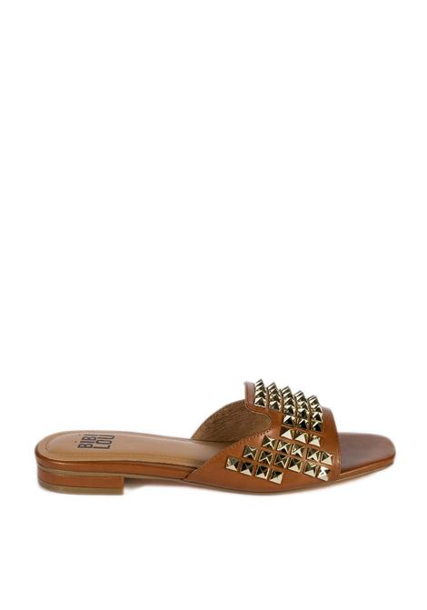 Sandalo flat borchie cuoio BIBI LOU | Sandali flats | 881PELLE-CUOIO