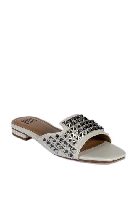 Sandalo flat borchie bianco BIBI LOU | Sandali flats | 881PELLE-WHITE