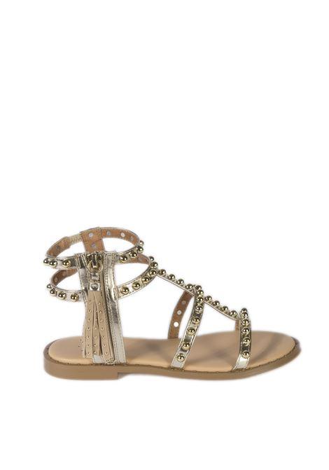 Sandalo gladiatore borchie oro BIBI LOU | Sandali flats | 885LAMINATO-ORO