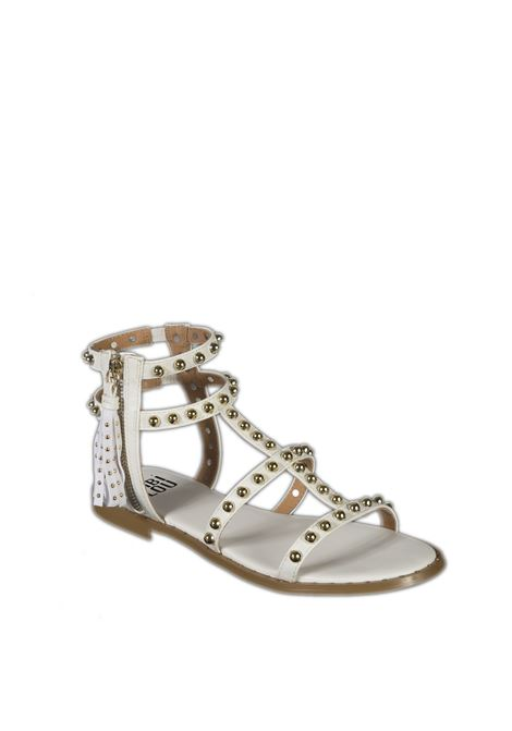 Sandalo gladiatore borchie bianco BIBI LOU | Sandali flats | 885PELLE-BLANCO