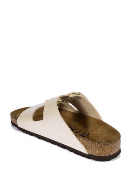 Sandalo arizona big buckle bianco BIRKENSTOCK | Sandali flats | ARIZONA D1020021-PEARL/WHI