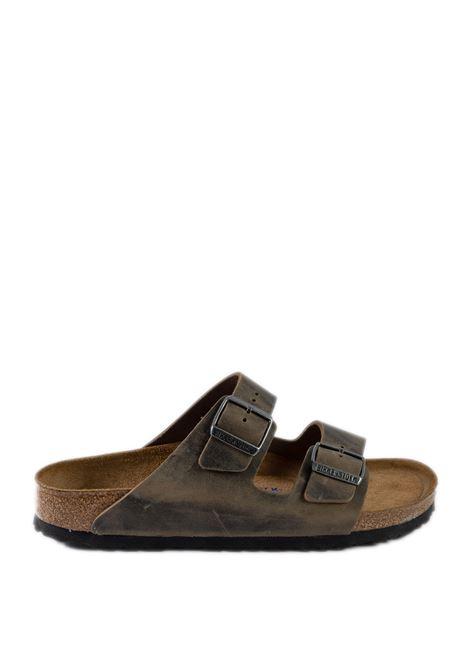 Sandalo arizona pelle khaki BIRKENSTOCK | Sandali flats | ARIZONA SFB U1019377-KHAKI