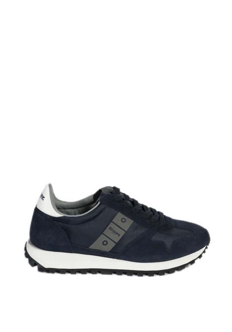 Sneaker dawson blu BLAUER | Sneakers | DAWSON01SUEDE-NAVY