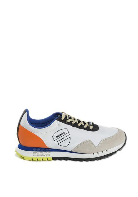 Sneaker denver bianco multi BLAUER | Sneakers | DENVER05SUEDE-FANTASY/WHITE
