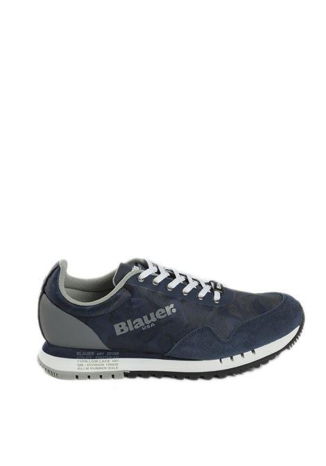 Sneaker denver blu BLAUER | Sneakers | DENVER06SUEDE-NAVY