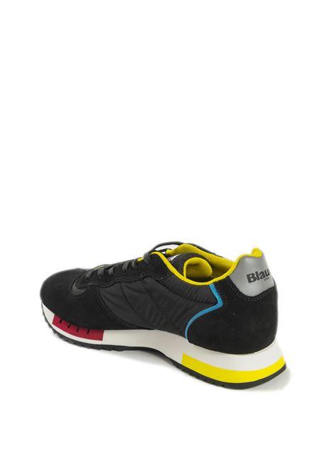 Sneaker queens nero BLAUER | Sneakers | QUEENS01SUEDE-FANTASY/BLACK