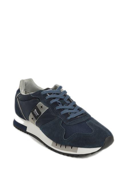 Sneaker queens blu BLAUER | Sneakers | QUEENS01SUEDE-NAVY