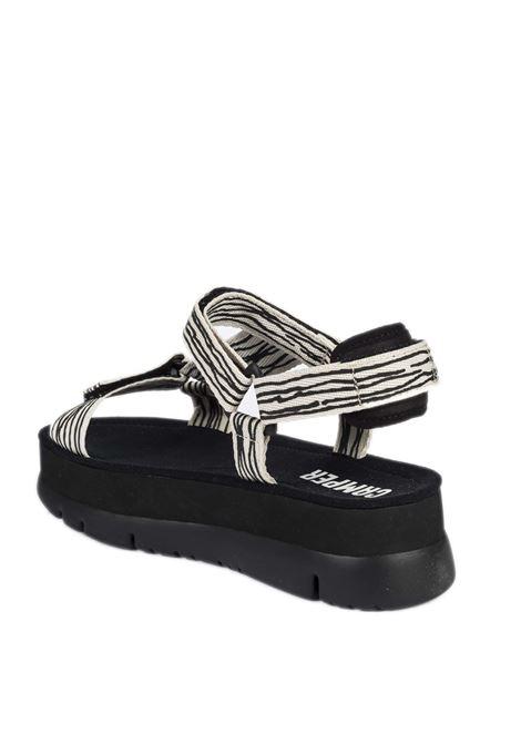 Sandalo webbing bianco/nero CAMPER | Sandali flats | 200851WEBBING-006
