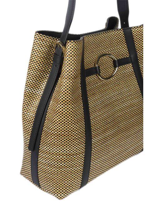 Shopping rafia beige CAROL J | Borse a spalla | 865PAGLIA/RUGA-NERO