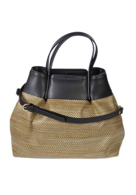 Shopping g rafia beige CAROL J | Borse a mano | 877PAGLIA/RUGA-NERO