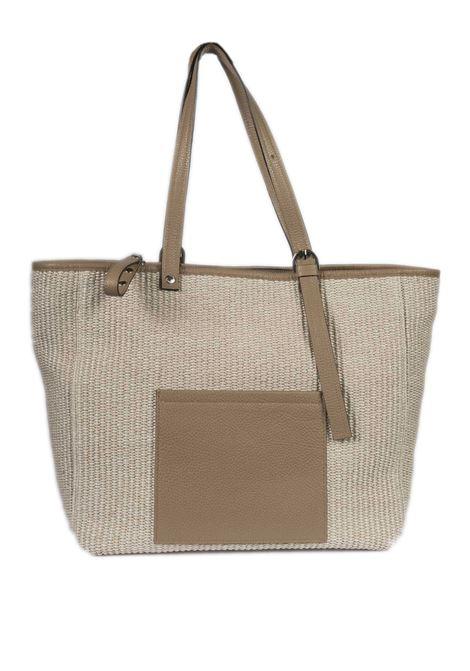 Shopping g rafia cuoio CAROL J | Borse a spalla | 893RAFIA/DOLLARO-SABBIA
