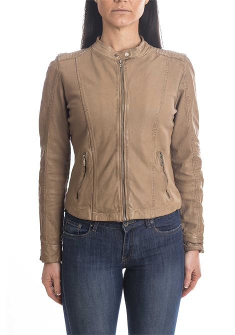 Giubbino wash beige CENSURED | Giubbini in pelle | JWWASPLEATHER-13