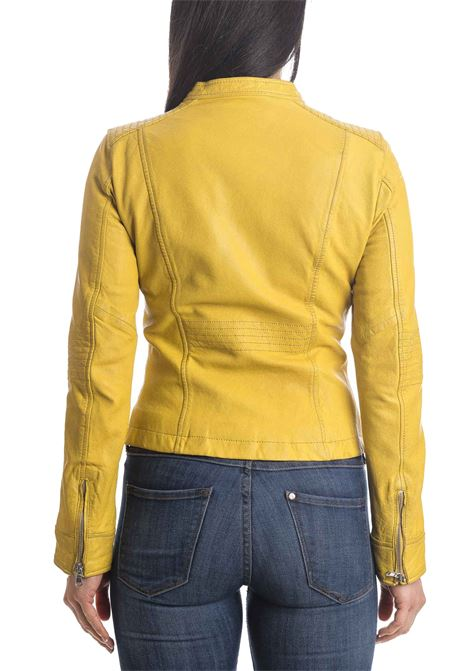 Giubbino wash giallo CENSURED | Giubbini in pelle | JWWASPLEATHER-69