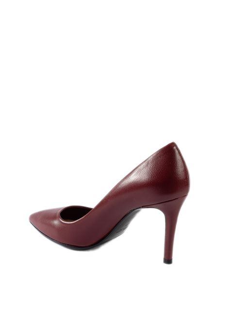 Décolleté nappa rosso rubino tacco 80 CHANTAL | Décolleté | 690NAPPA-RUBINO