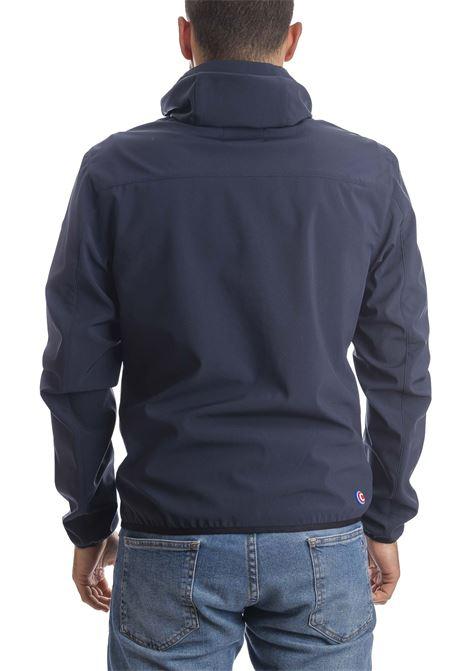 Giubbino stretch cappuccio blu COLMAR | Giubbini | 18614UL-68