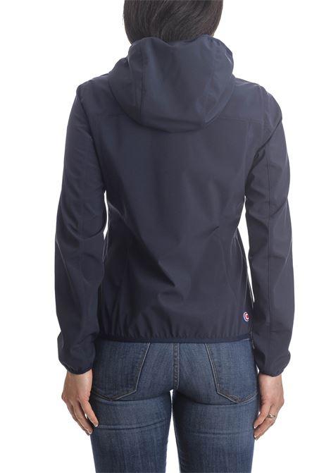 Giubbino cappuccio nylon blu COLMAR | Giubbini | 19014UL-68
