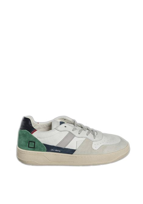 Sneaker court calf bianco/blu D.A.T.E | Sneakers | COURT UCALF-WHI/BLUE