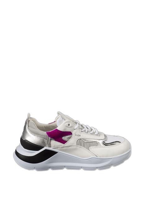 Sneaker fuga nylon bianco/grigio D.A.T.E | Sneakers | FUGA DNYLON-GREY