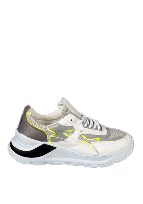 Sneaker fuga flash bianco/giallo D.A.T.E | Sneakers | FUGA UFLASH-WHI/YELOW