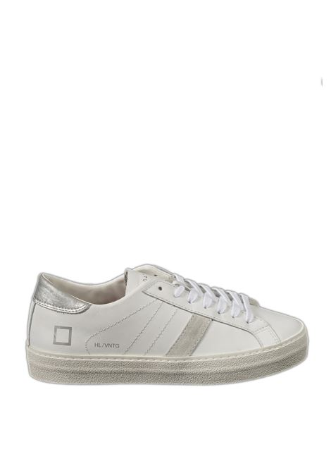 Sneaker hill low calf bianco/silver D.A.T.E | Sneakers | HILL LOW DCALF-WHI/SILVER
