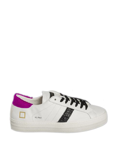 Sneaker hill low pony bianco/fuxia D.A.T.E | Sneakers | HILL LOW DPONY-WHI/FUXIA