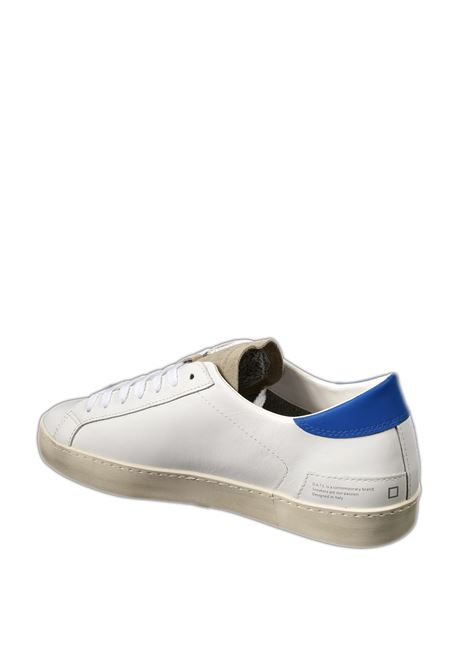 Sneaker hill low calf bianco/blu D.A.T.E | Sneakers | HILL LOW UCALF-WHI/BLUE